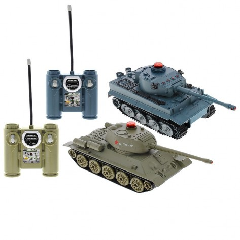 "Танковый бой - 2 танка - T34 и Tiger ""Тигр"""